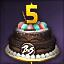 5주년 케이크