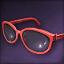 핑크 포인트 안경