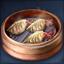 매운 만두 음식상자